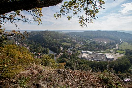Blick über das Kamptal von der Schanzwiese in Gars/Thunau.