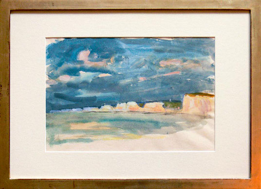 Hans Potthof Aquarell Normandie