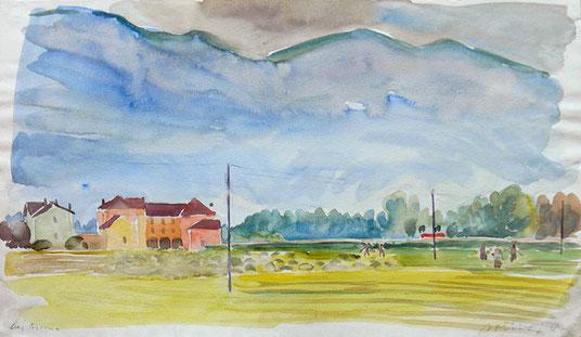 Hans Potthof Aquarell bei Ascona