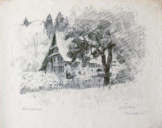Hans Potthof Zeichnung Brüschrein in Zug 1939