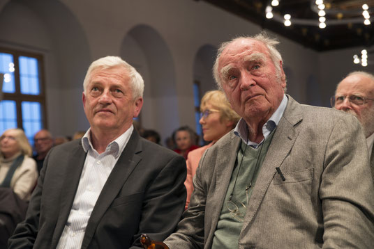 Arnold Stadler (links) mit seinem Mentor Martin Walser