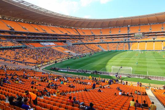 Leider nur rund 5'000 Zuschauer im riesigen Stadion