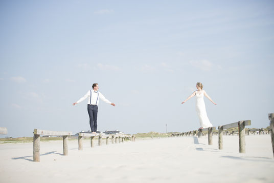 After WEdding Shooting am Strand von Sankt Perter Ordning