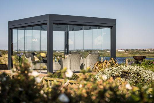 Solarlux Terrassendach Überdachung Freistehend Outdoor Living Garten Terrasse Sommer Frühling draußen Schutz Schreinerei Jertz Mainz