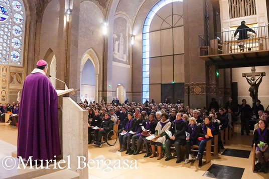 Appel décisif des confirmands 21-02-2015 Cathédrale de Nanterre, Mgr Aupetit