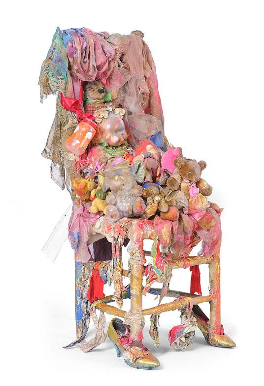 Abb.: Hendrina Krawinkel, Box 3, 2018, mixed media, Acrylkasten, 60x60cm