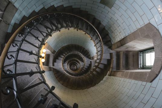 Phare d'Eckmühl - Penmarc'h Leuchtturm Stairs Treppen Spiral Steps Lighthouse Bretagne France