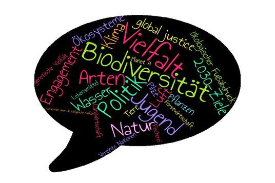 Wortwolke zu Biodiversität