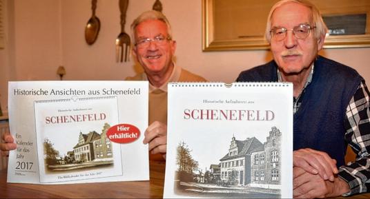 Haben ihren fünften Kalender fertig gestellt: (v. l.) Karsten Nühs und Bernd Reichert.