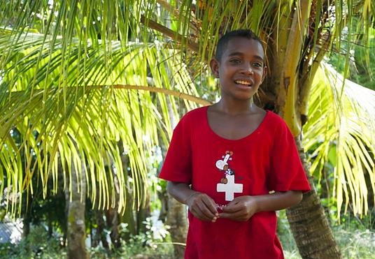 Dedan (12) besucht jeden Tag das Lernzentrum und kann dank Mitgliederbeiträgen fleissig lernen