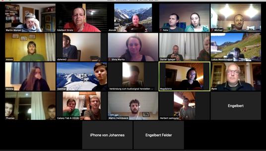Videokonferenz - Daheimabend 2