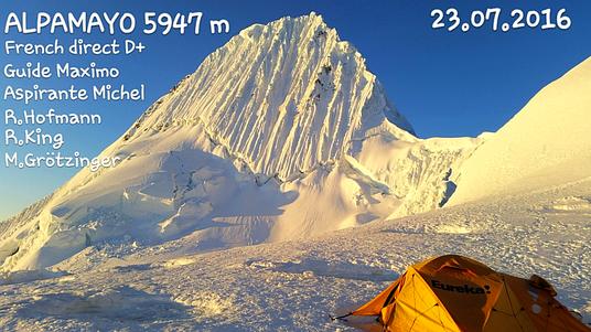 Alpamayo, Alpamayo Gipfelerfolg, Alpamayo Expedition, AMICAL alpin Gipfelerfolg,