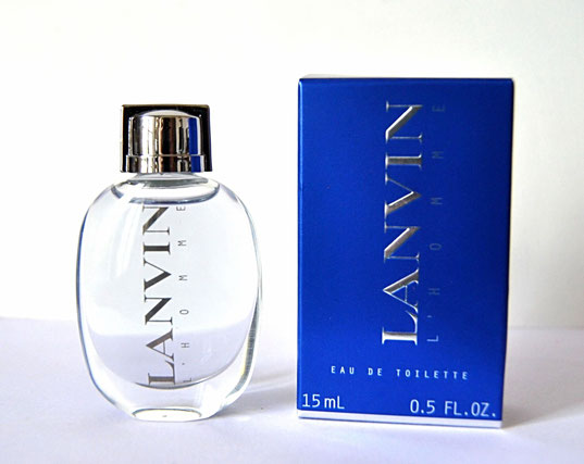 LANVIN L'HOMME - EAU DE TOILETTE 15 ML - MINIATURE PLUS GRANDE QUE LA PRECEDENTE : 15 ML