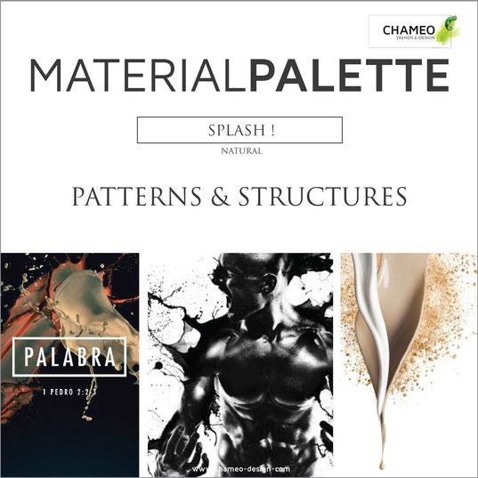 Material palette CMF color material design pattern & structures