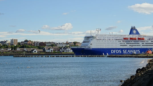King Seaways departing North Shields, bound to IJmuiden.