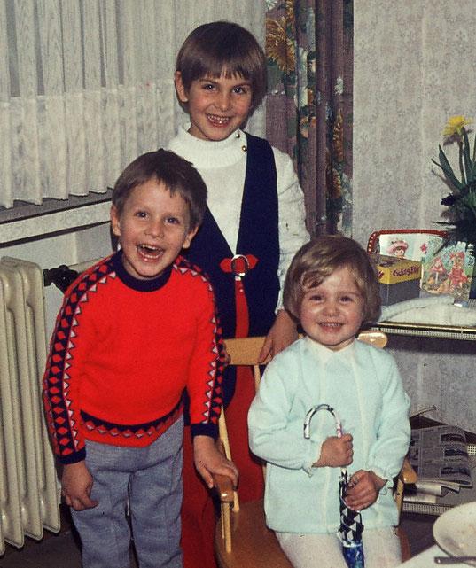 Ralf, seine Schwester Claudia und das Geburtstagskind Michaela