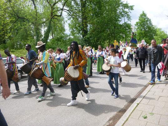 Wir sind gern auch interkulturell unterwegs - hier mit der Puchheimer Blasmusik
