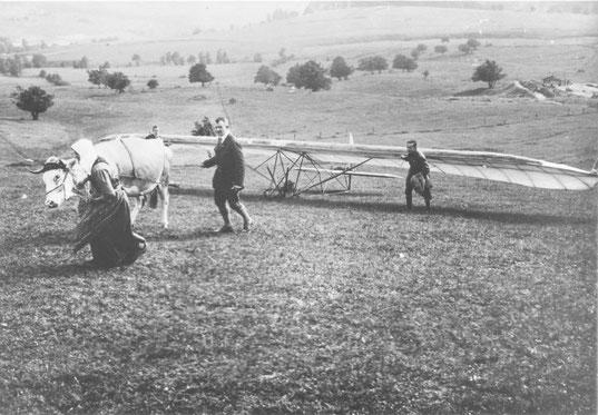 """Aus diesen Tagen stammt der Begriff """"Flugsport""""       (Foto: Privat)"""