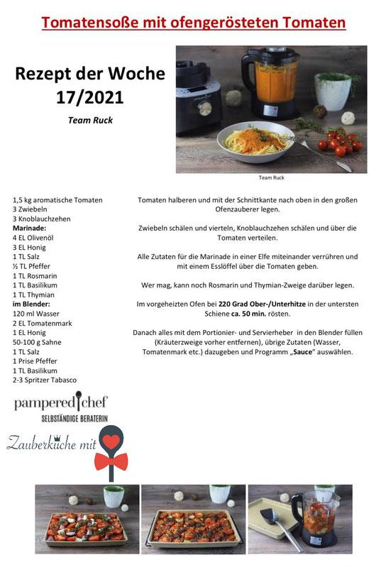 Blender Pampered Chef Rezepte, Tomatensoße Rezept, Stoneware ,Soße, Zauberküche mit Herz