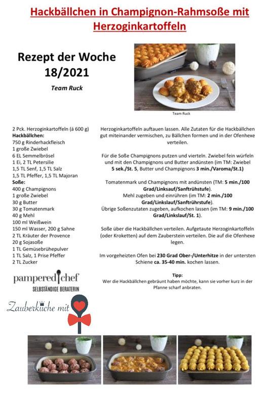 Pampered Chef Rezepte, Tomatensoße Rezept, Zauberküche mit Herz, Grundset, one Pot Gericht