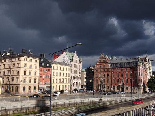 Stockholm sous l'orage