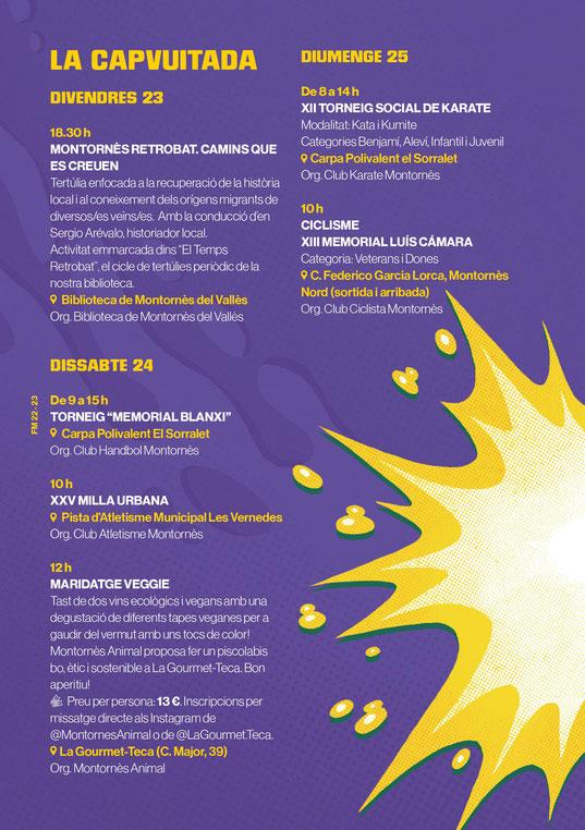 Programa de la Festa Major de Montornes del Valles