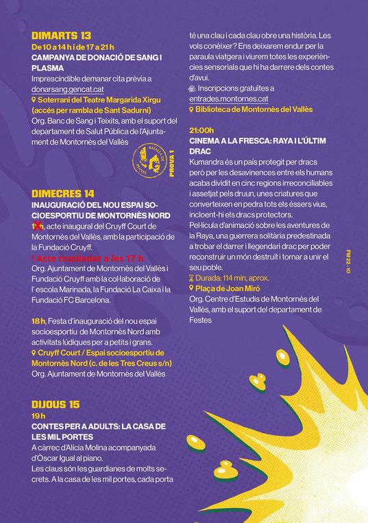 Festa Major de Montornes del Valles Programa