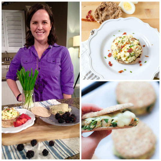 Sandwiches are a quick and versatile way to get healthy meals into a busy week.  Here are two easy and delicious sandwich recipes I featured on Great Day SA!
