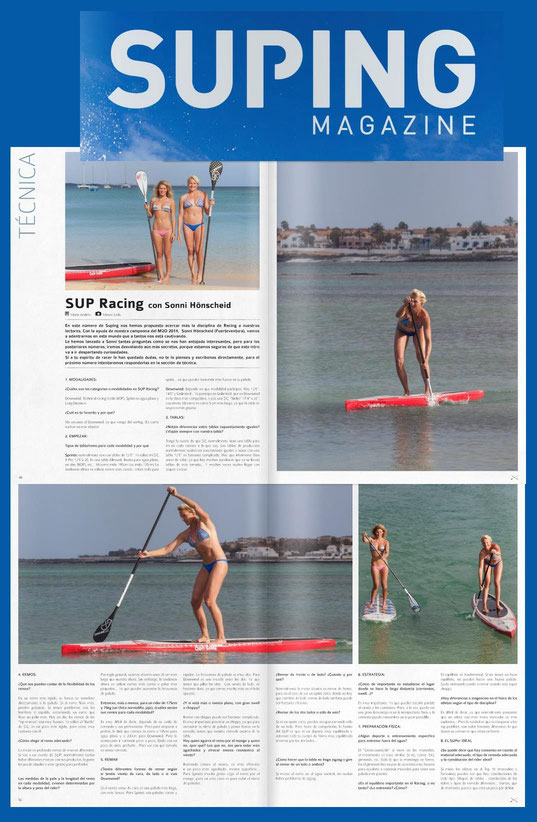 Sonni and Janni Hönscheid in spanish Suping Mag