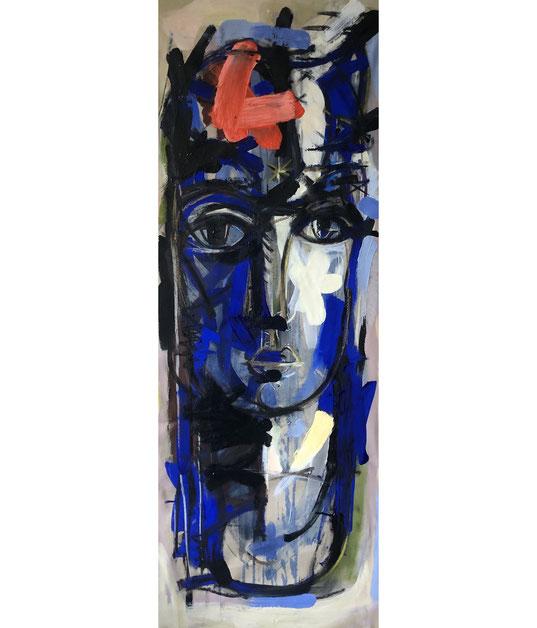 L'homme bleu - 130/45 cm - 2020 - Collection privée La Rochelle