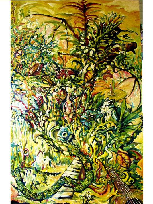 """MONUMENT""  oil on canvas 110x70cm"