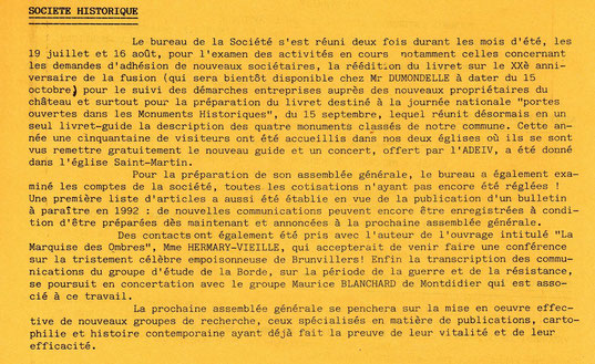 Flash municipal d'octobre 1991