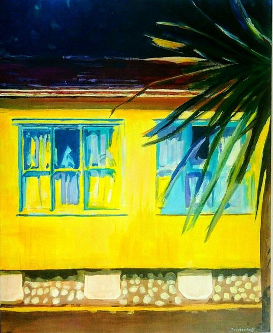 Maison Sud,  100 x 80 cm, Acryl auf Leinwand