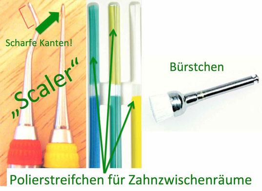 Instrumente zur professionellen Zahnreinigung