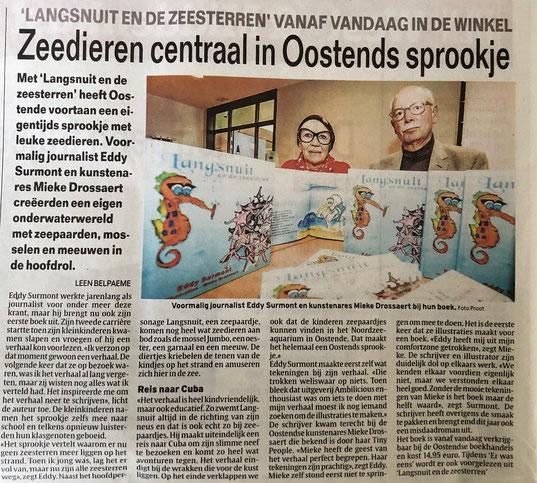 """Presentatie """"Langsnuit en de zeesterren in Bibliotheek van Oostende."""