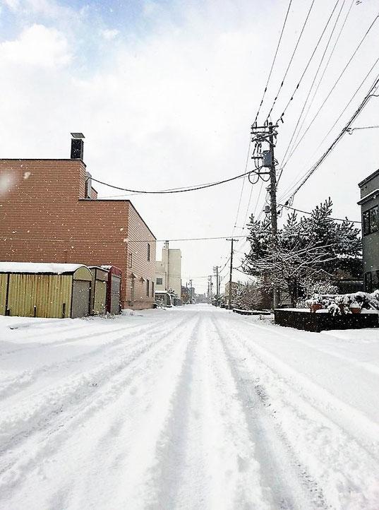 栗山町 雪