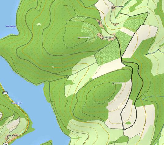 GPS Karte Tour Köpperkopf, 59872 Meschede mit Start und Endpunkt
