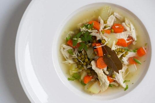 Gemüse-Hühnersuppe I gesund & lecker