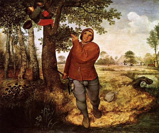 """Pieter Bruegel il Vecchio, """"Il ladro di nidi"""" (1568)"""