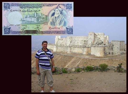 50 pounds Siria desde el Krak de los Caballeros