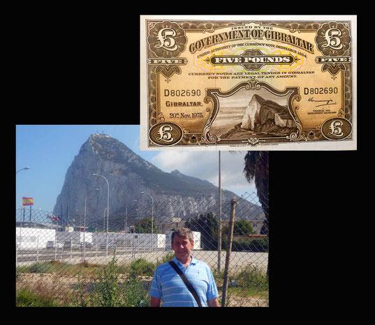 5 libras Gibraltar desde el peñón de Gibraltar