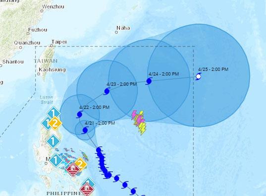 フィリピンの天気図