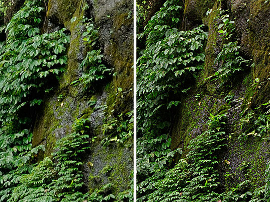 Reisefotografie von 2011, Wasserfall bei Munduk, Nord-Bali, Vergleich NIKON D200 und FUJIFILM GA645W Professional Wide, Mittelformatkamera vs. Digitalkamera. Foto: Dr. Klaus Schörner