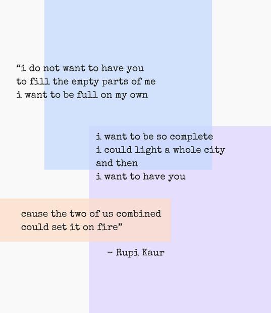 Gedicht des Monats Januar Rupi Kaur