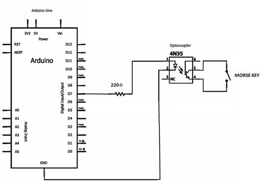 A remote morse key - IW7DMH - Ham Radio Station