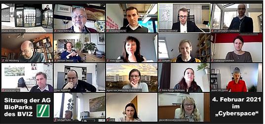 Screenshot Vediokonferenz AG BioParks