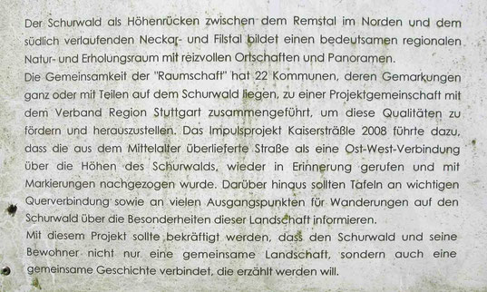 © Traudi  -  Text: Infotafel im Schurwald bei Büchenbronn (Ebersbach an der Fils)