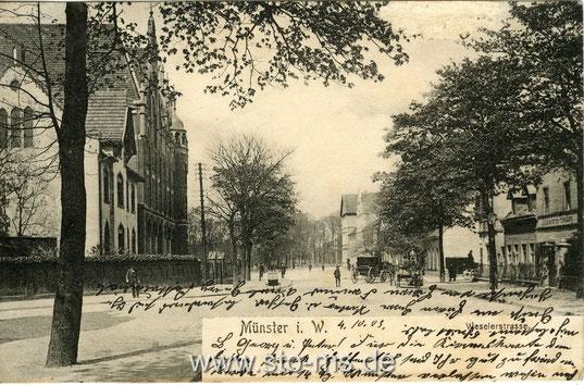 Weseler Straße stadteinwärts, kurz vor der Bismarckallee