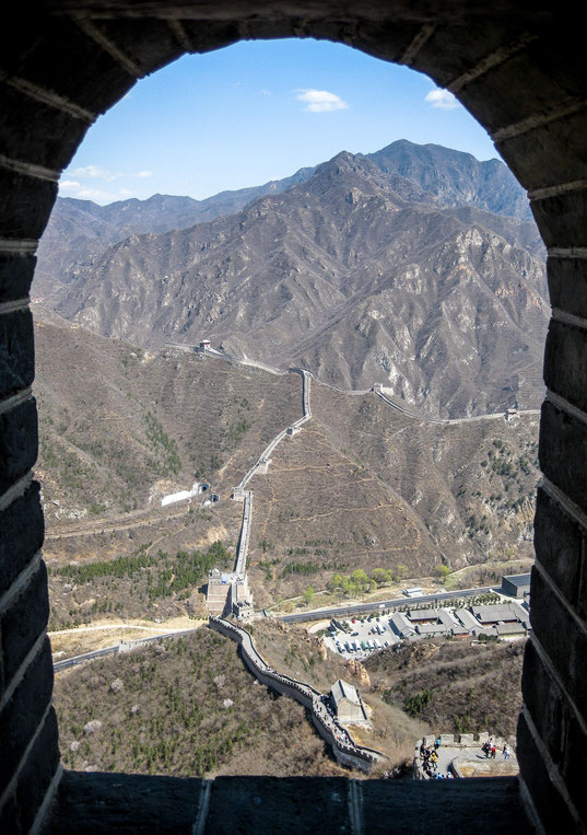 Window of Great Wall of China