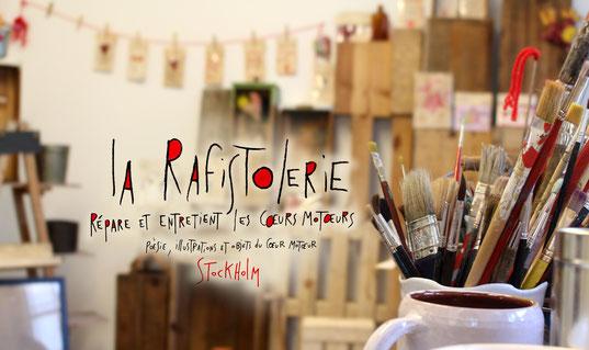 Atelier de Nac l'artiste de La Rafistolerie basée à Nantes via le site de Cloé Perrotin